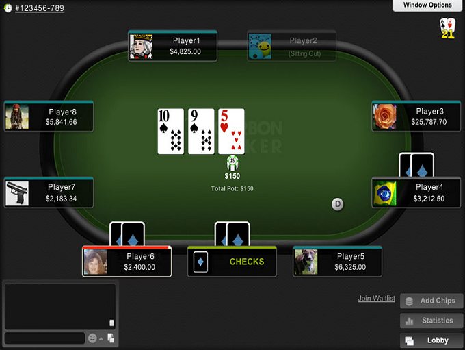 Games available at Carbon Poker