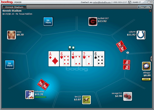 Bovada Poker Game Screen
