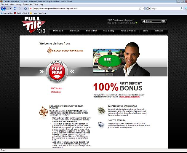 Full Tilt Poker Welcome Bonus